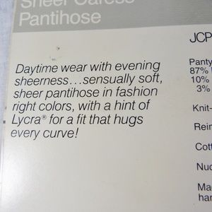 jcpenney Accessories - JC Penny Pantyhose Average 100-145 lbs Green NOS